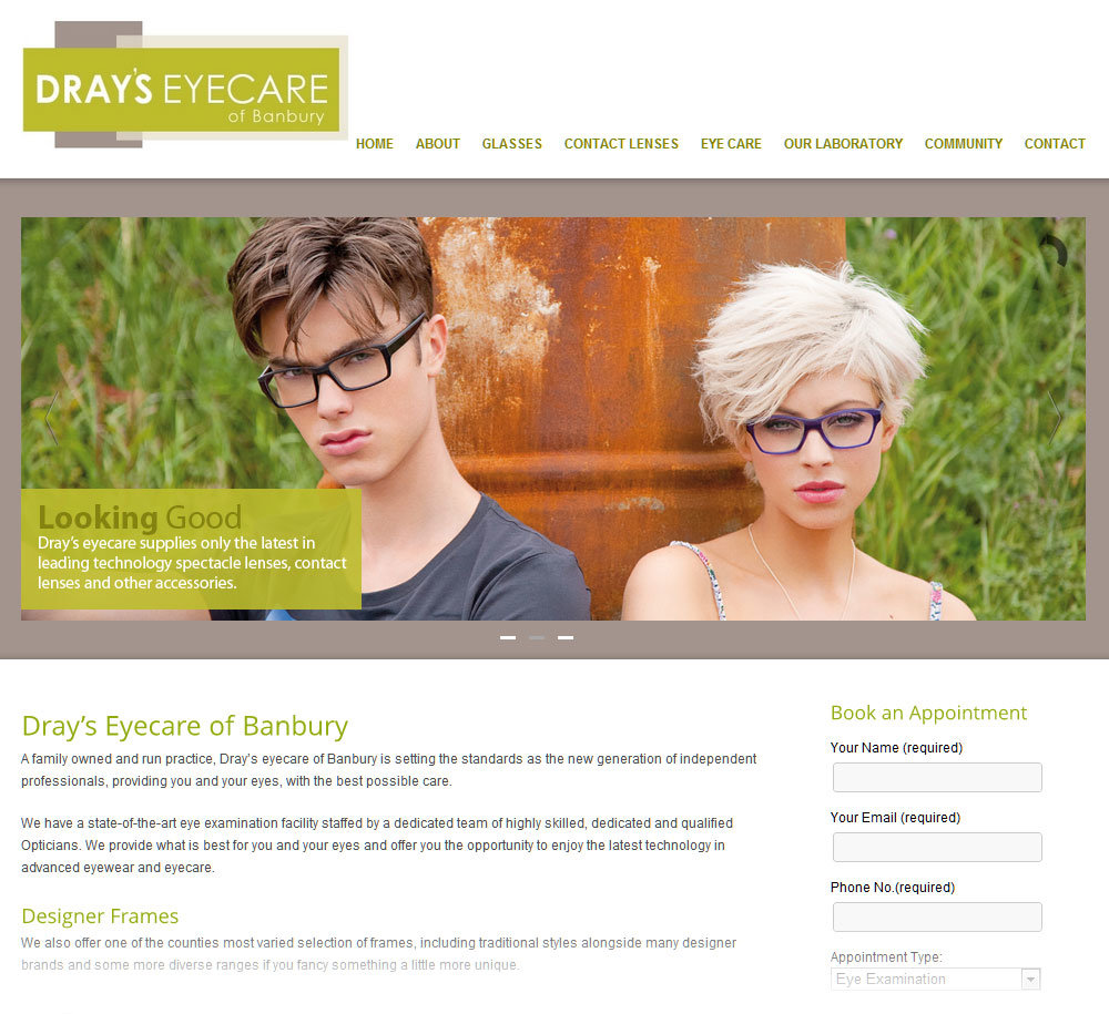 Drays Eyecare – new website & Promotional Items