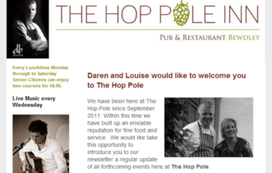 The Hop Pole Bewdley – Newsletter