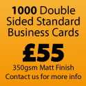 1000 Standard Business Cards