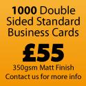 1000 Standard Business Cards