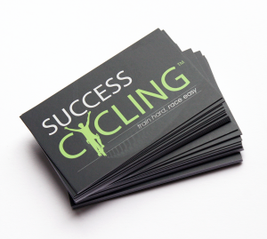 success cycling business cards