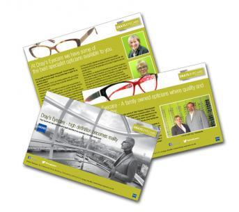 Adverts for Dray's Eyecare