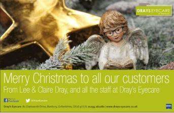 Dray's Eyecare celebrates with new Christmas Advert