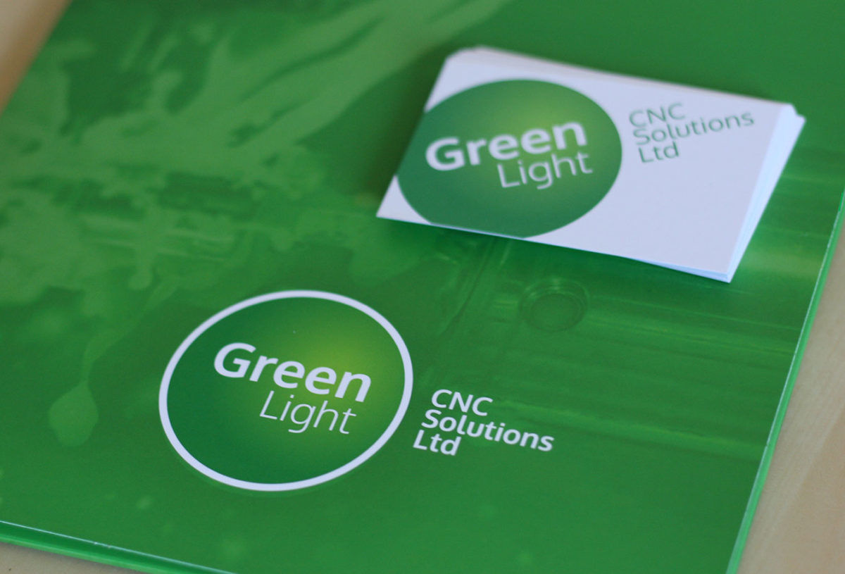 Logo, branding and print for Green Light CNC Solutions