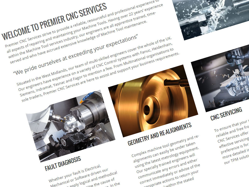Premier CNC Services – New website