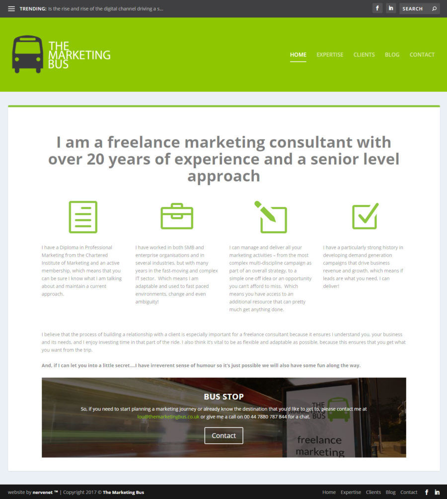 The marketing Bus - Branding and web design
