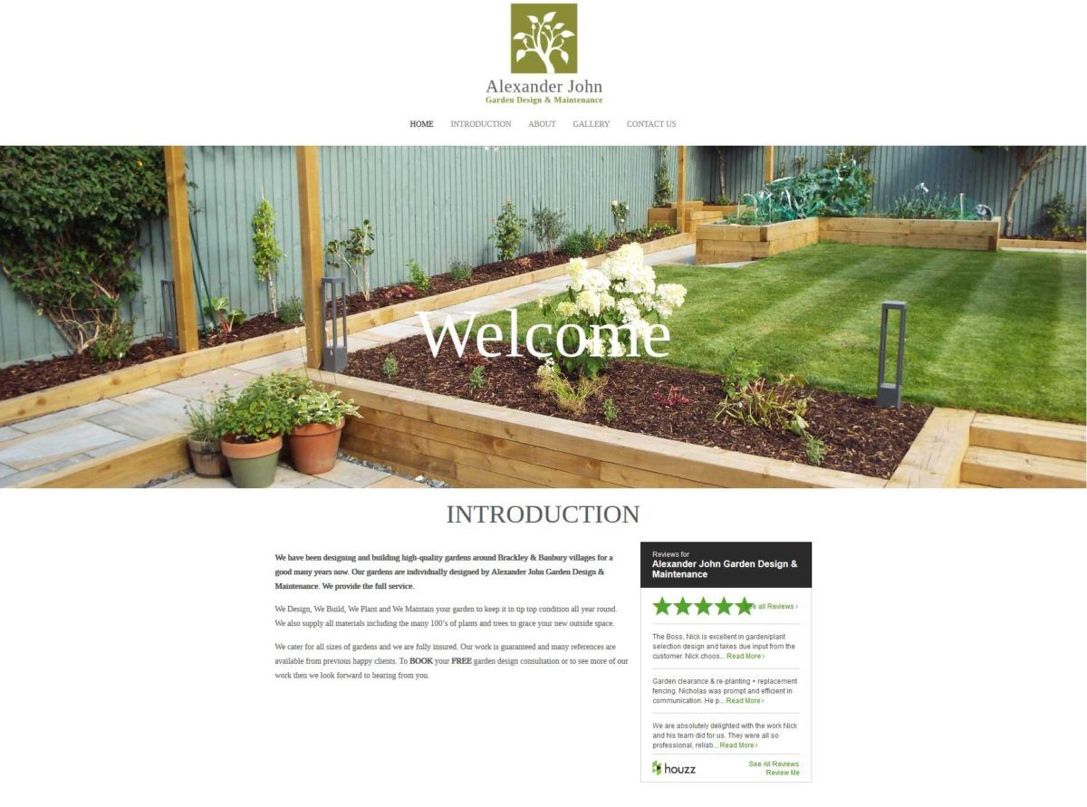 Banbury web design project – Brackley Fencing and Paving