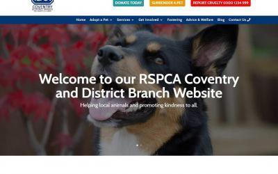 RSPCA Website – Website design and build