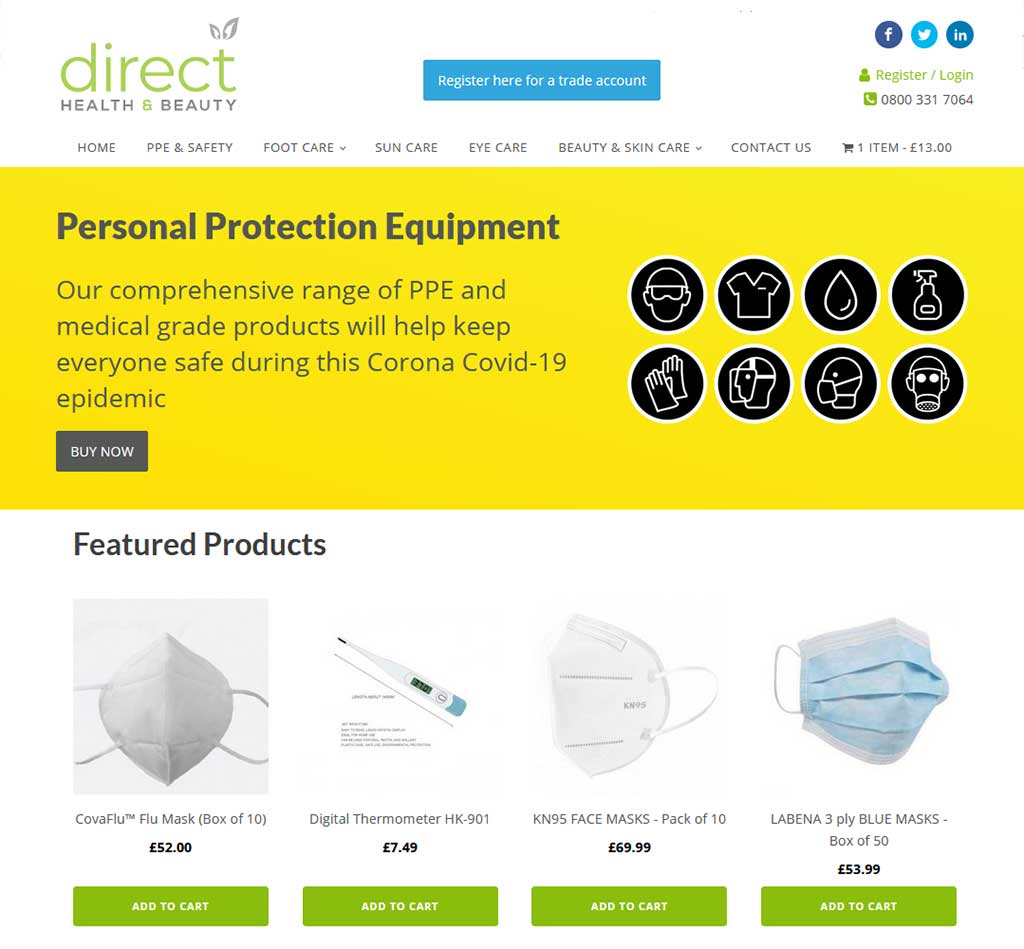 banbury web design: e-commerce website